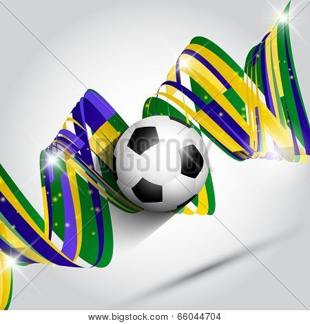 Abstract football or soccer background using Brazil flag colours