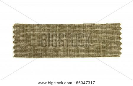 Green Fabric Sample Isolated On White