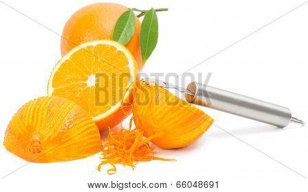 Orange Zest And Orange Fruits