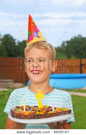 Boy With Fruit Pie, Happy Birthday Party Seven Years