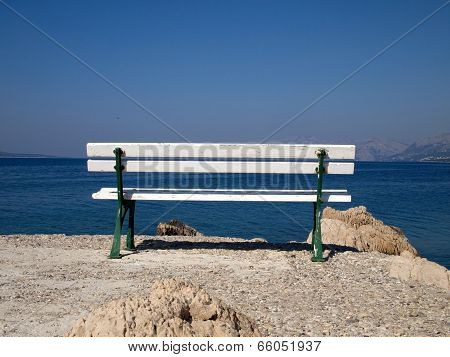 Bench Near The Sea