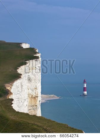 Lighthouse and cliff at Beachy Head, East Sussex
