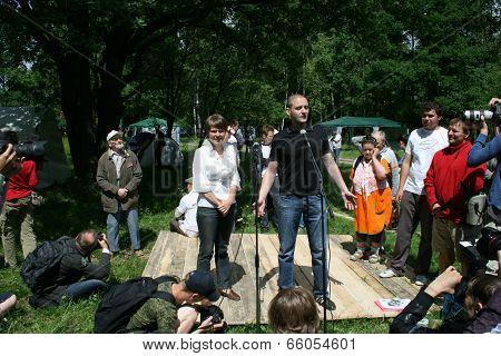 Sergey Udaltsov At The Forum Of Civil Activists Antiseliger