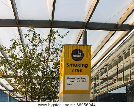 Heathrow Airport Smoking Area