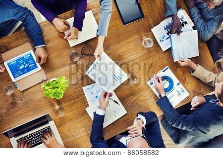 Group of Multiethnic Busy People Working in an Office
