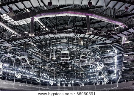 Roof Of Sports Building From Inside