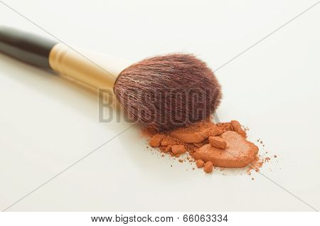 Blusher and brush