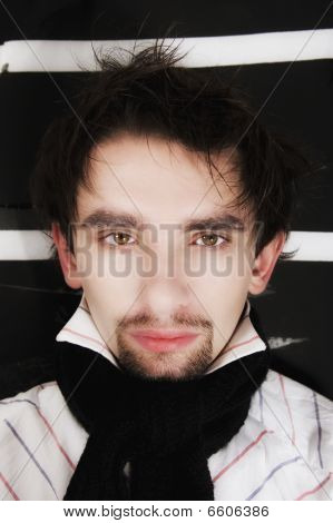 Young Stylish Guy With In  Scarf