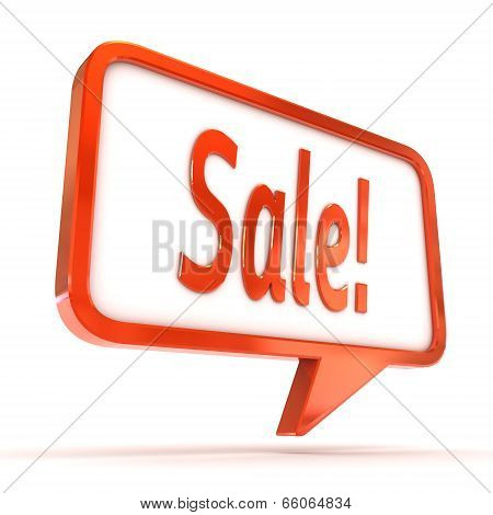 Speech Bubble Sale