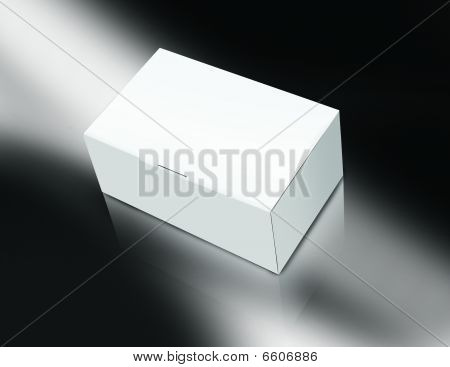 Blank box with reflection