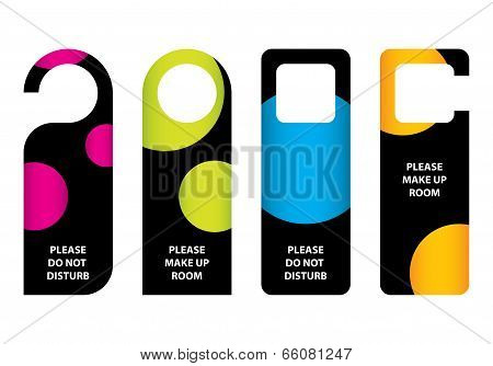 Hotel Do Not Disturb Door Hanger With Special Dotted Design