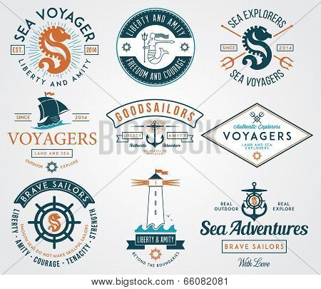 Sea Badges Colored