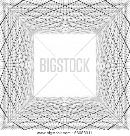 Background With Black Grid Like A Box