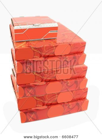 Pile Of Pizza Delivery Boxes