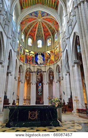 Interior Of The Cathedral La Almudena