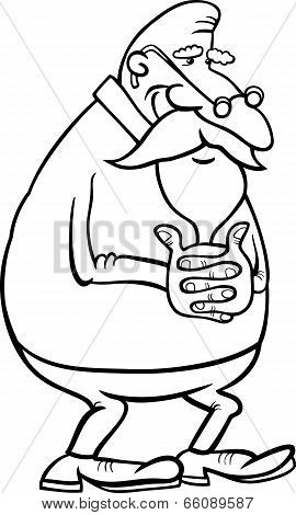 Senior Grandfather Coloring Page