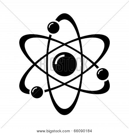 Atom Part on White Bakground. Vector