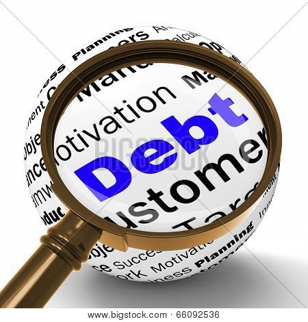 Debt Magnifier Definition Means Financial Crisis And Obligations