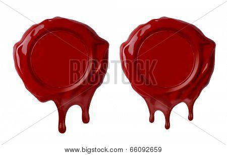 set of melt wax seals isolated