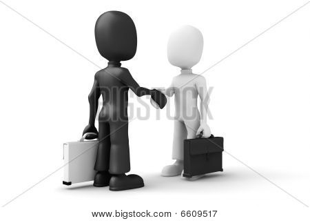 3d man handshake