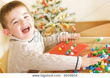 Boy Enjoying His Game