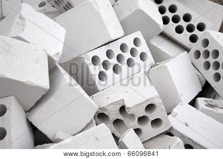 Heap Of Silicate Bricks