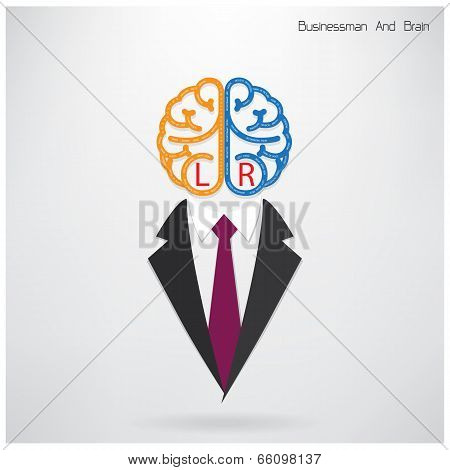 Businessman With Brain Sign