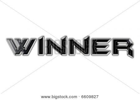 Word Winner In Style Metal