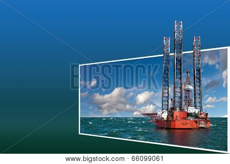 Frame With Oil Rig
