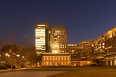 image of 1700s  - Historic Independence Square in Philadelphia at night - JPG