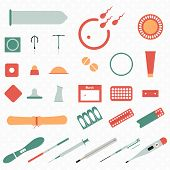 image of contraceptives  - All modern types and contraception methods now - JPG