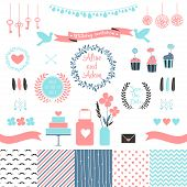 stock photo of chevron  - Set for wedding design. 