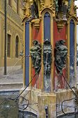 foto of waterspout  - The Syrlinbrunnen fountain southeast of the cityhall of Ulm - JPG