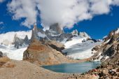stock photo of firn  - Mount Fitzroy  - JPG