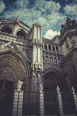foto of parador  - Toledo Cathedral facade - JPG
