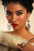 stock photo of irresistible  - Beautiful lady posing  - JPG