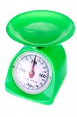 picture of gage  - Old Green weight gage scale on white background  - JPG