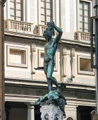 stock photo of medusa  - Perseus holding the head of Medusa - JPG