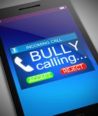 picture of bullying  - Illustration depicting a phone with a bullying concept - JPG