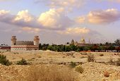 pic of jericho  - view of the greek orthodox monastery of st. Gerasimos (Deir Hajla), near Jericho, Israel