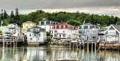 pic of lobster boat  - Stonington Maine is a genuine lobster fishing village - JPG
