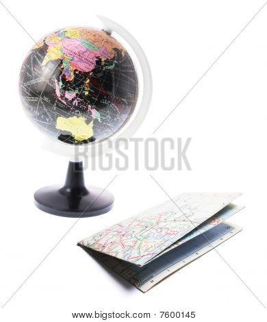 Globe And Street Map