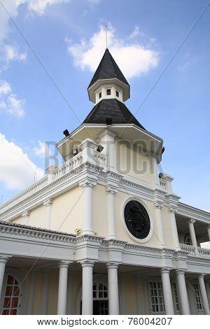 Dome Building Landmark At Thammasat Alumni Society In Bangkok
