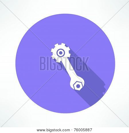wrench and nut icon