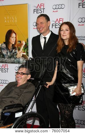 LOS ANGELES - NOV 12:  Richard Glatzer, Wash Westmoreland, Julianne Moore at the
