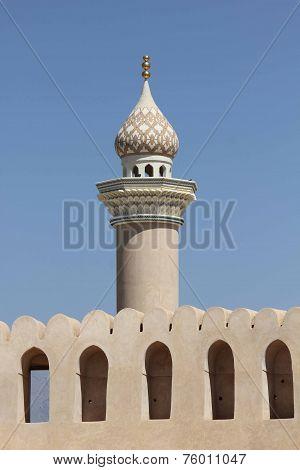 Architectural detail of Nizwa Minaret