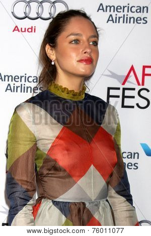LOS ANGELES - NOV 12:  Matilde Gioli at the A Special Tribute to Sophia Loren at AFI Film Festival at the Dolby Theater on November 12, 2014 in Los Angeles, CA