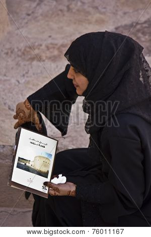 Arab Woman With a book