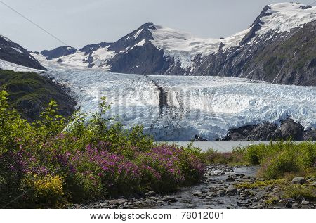 Portage Glacier From Stream