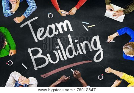 Multiethnic People Discussing About Team Building